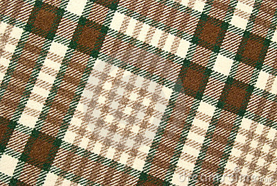 Woolen and brown checked plaid