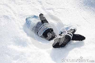 Woolen chilldren gloves
