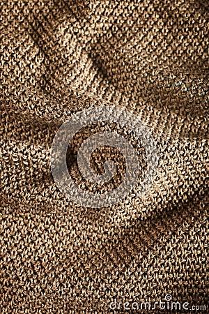 Woolen fabric brown