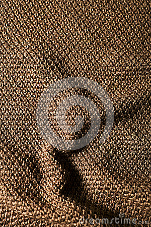 Woolen fabric brown