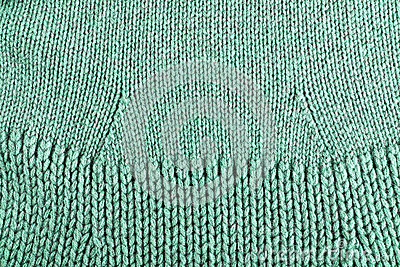 Woolen fabric green