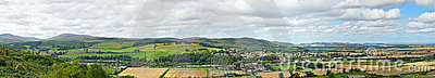 Wooler, Northumberland, England, panorama