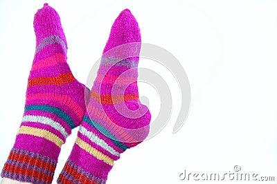 Woollen hand-made socks