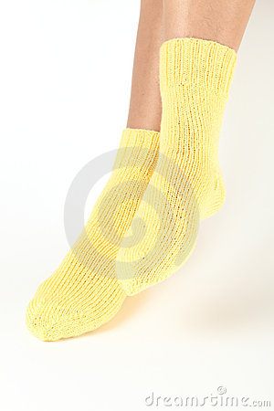 Woollen socks.