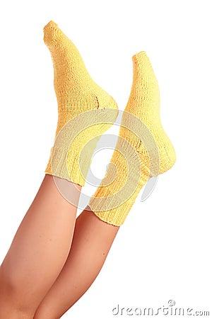 Woollen socks .