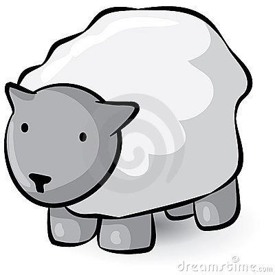 Woolly sheep cartoon