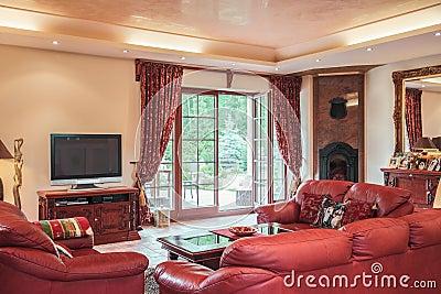 Woonkamer in koloniale stijl stock foto afbeelding 56752685 - Koloniale stijl kantoor ...
