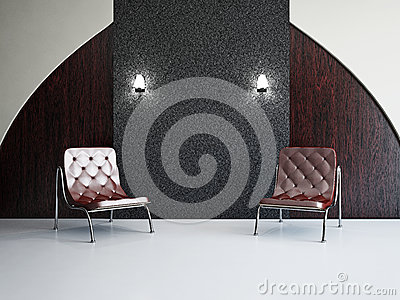 Woonkamer Met Stoelen Stock Afbeelding - Afbeelding: 30088111
