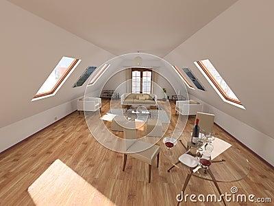 Woonkamer in zolder stock foto afbeelding 13084300 for 3d planner zolder