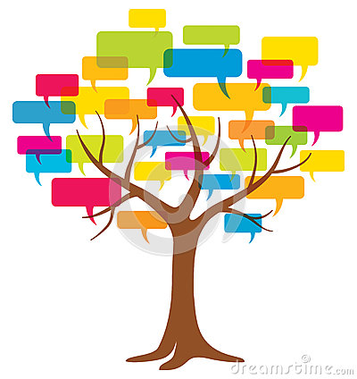Free Word Balloon Tree Royalty Free Stock Photography - 34617357