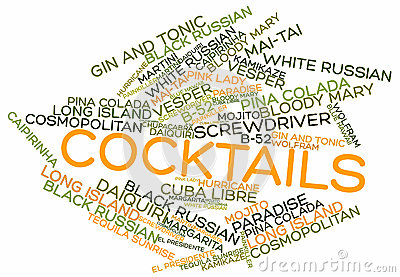 Word cloud for Cocktails
