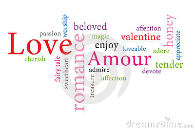 Word cloud consept  illustration of love