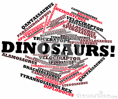 Word cloud for Dinosaurs