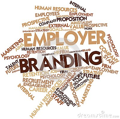 Abstract word cloud for Employer Branding with related tags and terms.