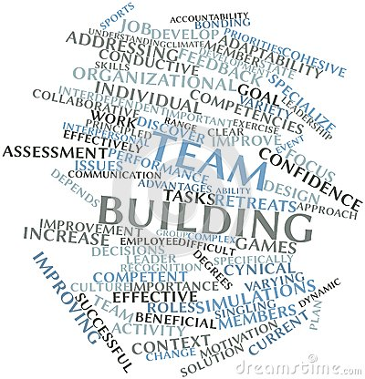 Free Word Cloud For Team Building Royalty Free Stock Photo - 27357145