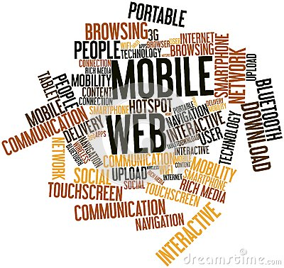 Word cloud for Mobile Web