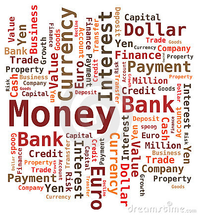 Word Cloud - Money /Bank / Value