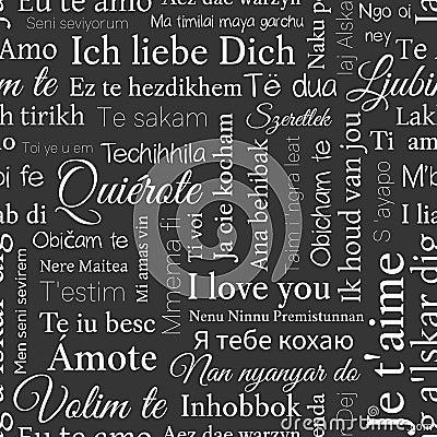 Word cloud pattern phrase i love you in different languages phrase i love you in different languages vector illustration altavistaventures Choice Image