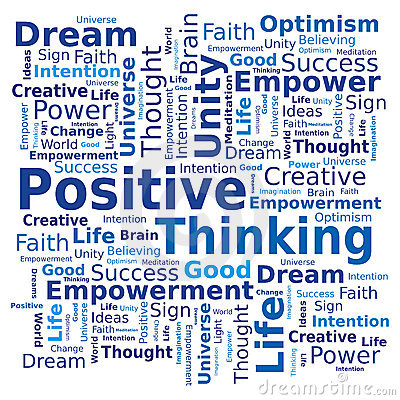 Free Word Cloud - Positive Thinking Stock Photo - 16481210