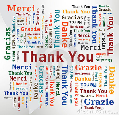 Word Cloud  - Thank You in 5 Languages