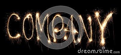 Word company written sparkler