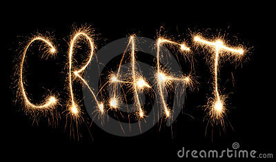 Word craft written sparkler