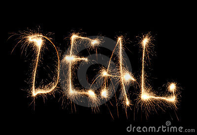 Word deal written sparkler