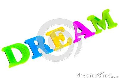 Word dream Stock Photo