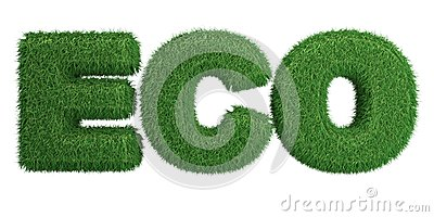 Word Eco made of grass
