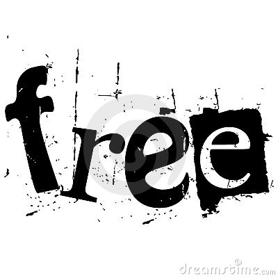 The Word Free Written In Grunge Cutout Style Stock Image ...