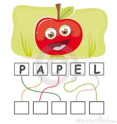 Word game with apple
