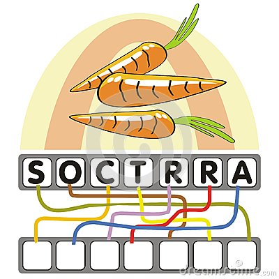 Word game with the carrots