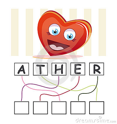 Word game with heart