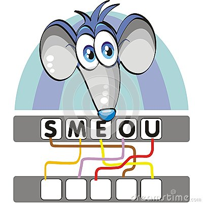 Word game with the mouse