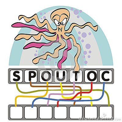 Word game with the octopus