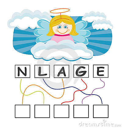Free Word Game With Angel Stock Photos - 15561243