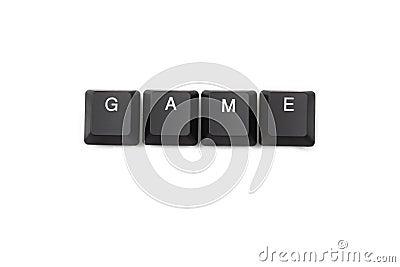 Word game written on keyboard Stock Photo