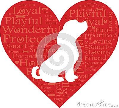 Free Word Heart Dog Royalty Free Stock Image - 19931396