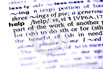The word help  in a dictionary