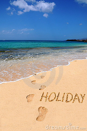 Free Word Holiday On The Beach Royalty Free Stock Images - 13793089