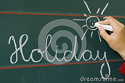 Word holiday and shine