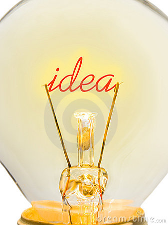 Word Idea in lamp