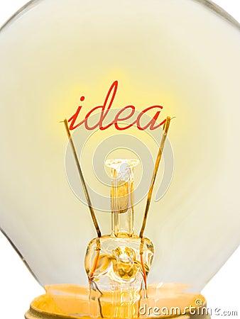 Word Idea in lamp