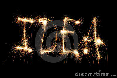 Word idea written sparkler