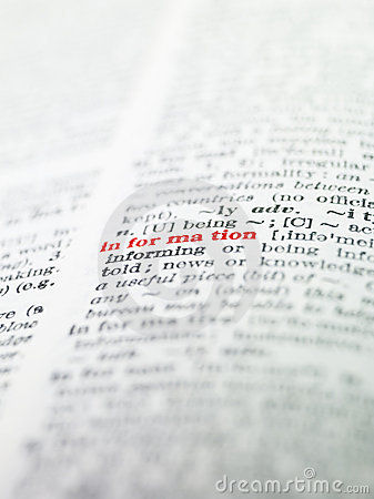 The word  information  highlighted