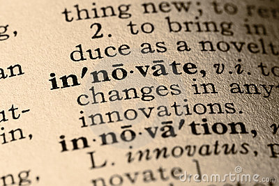 The word innovate