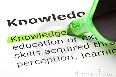 The word  Knowledge  highlighted