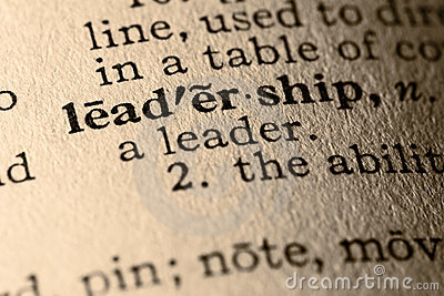 The word leadership