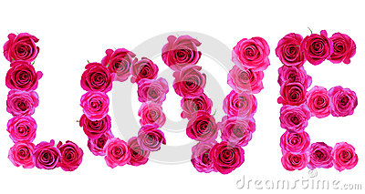 Word Love With Roses Photo Image 57725801 – Words of Romance for Romantic Love Letters
