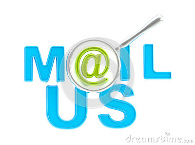 Word mail us under the magnifier